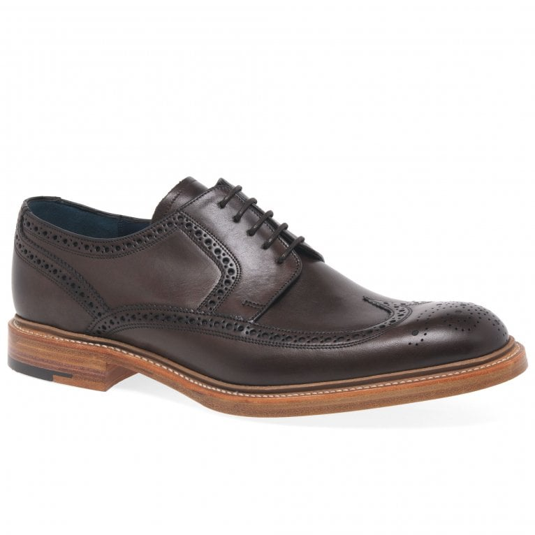 Barker Bailey II Mens Leather Lace Up Wing Tip Derby Brogues