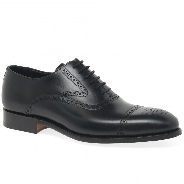 Barker Lerwick Mens Formal Oxford Semi Brogue Shoes