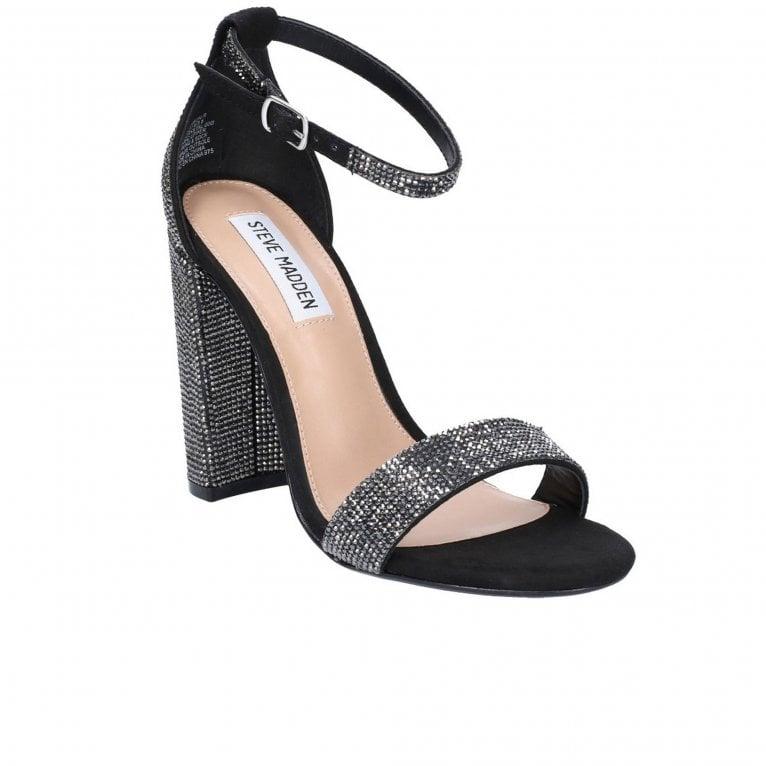 Steve Madden Carrson Womens Chunky Heel Rhinestones Sandal s