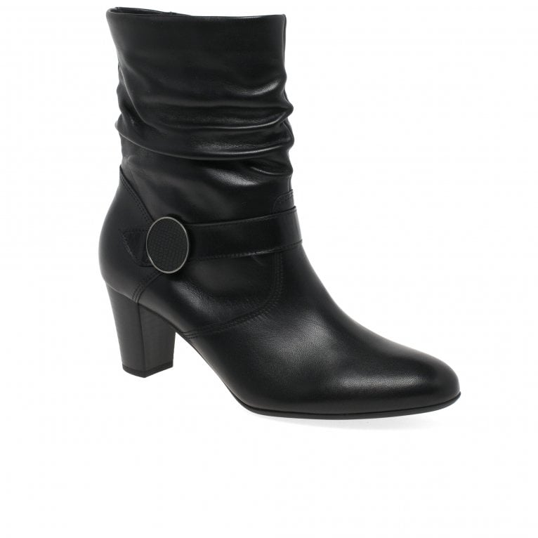 Gabor Maxie Womens Ruched Leg Boots