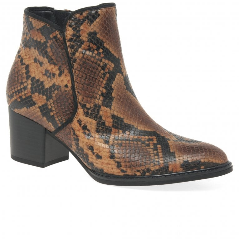 Gabor Robina Ladies Zip Up Ankle Boots