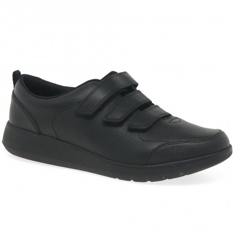 Clarks Scape Sky Boys School Shoes