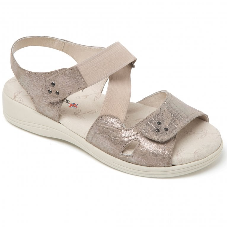 Padders Cruise Womens Extra Wide Riptape Sandals
