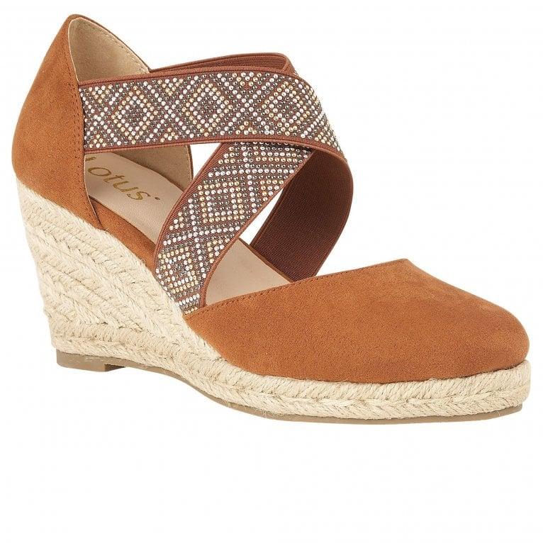 Lotus Zade Womens Wedge Heel Espadrille Sandals