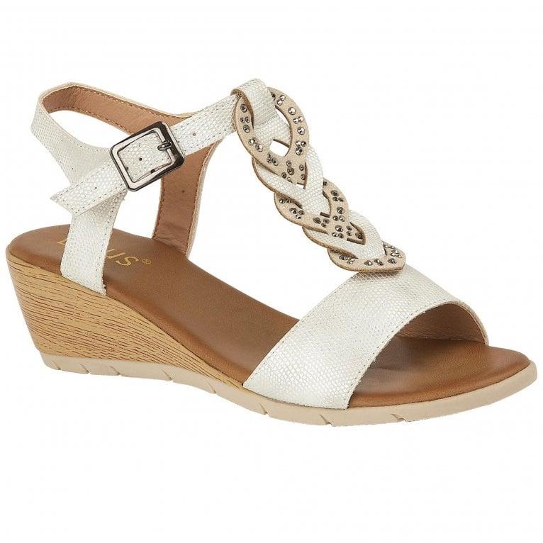 Lotus Orta Wedge Heel Sandals