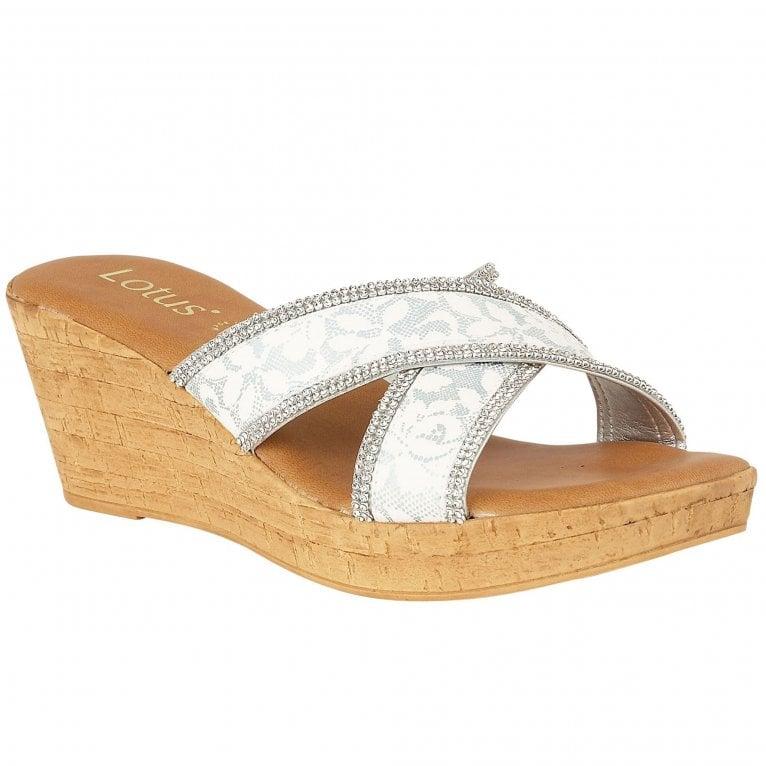 Lotus Perla Womens Wedge Heel Sandals