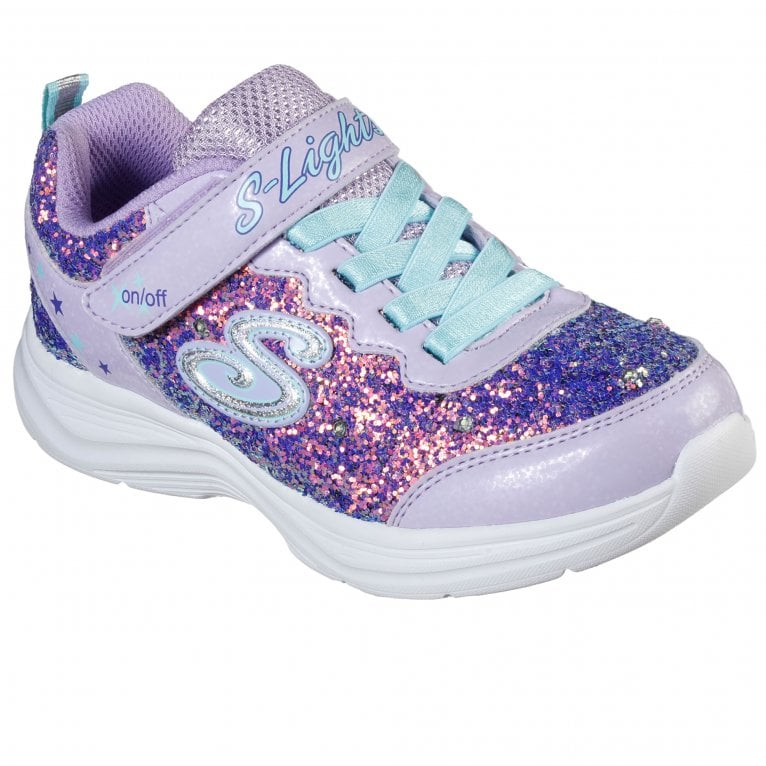 Skechers Glimmer Kicks Glitter N Glow Girls Trainers