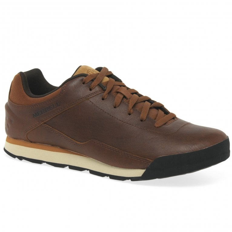 Merrell Burnt Rock Mens Leather Trainers