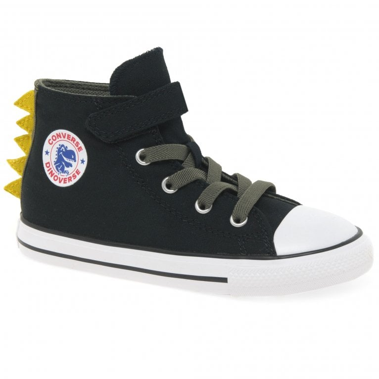 Converse All Star 1V Dino Spikes Boys Hi Top Infant Canvas Shoes