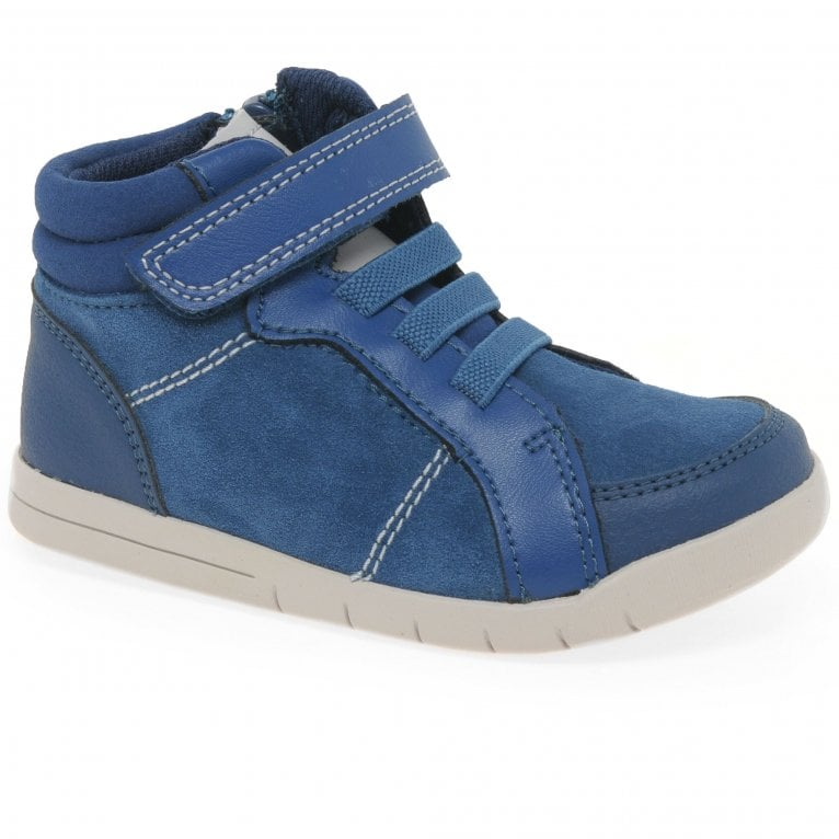 Clarks Emery Beat Boys Toddler Hi-Top Trainer Boots