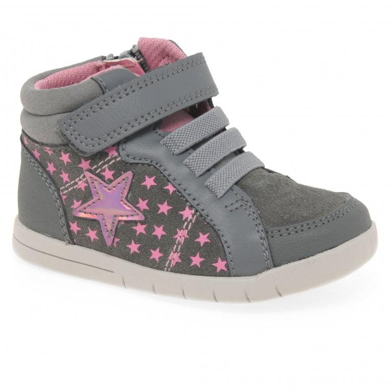 Clarks Emery Beat Girls Toddler Hi-Top Trainer Boots