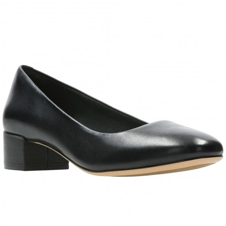 Clarks Orabella Alice Wide Low Heeled Court Shoes
