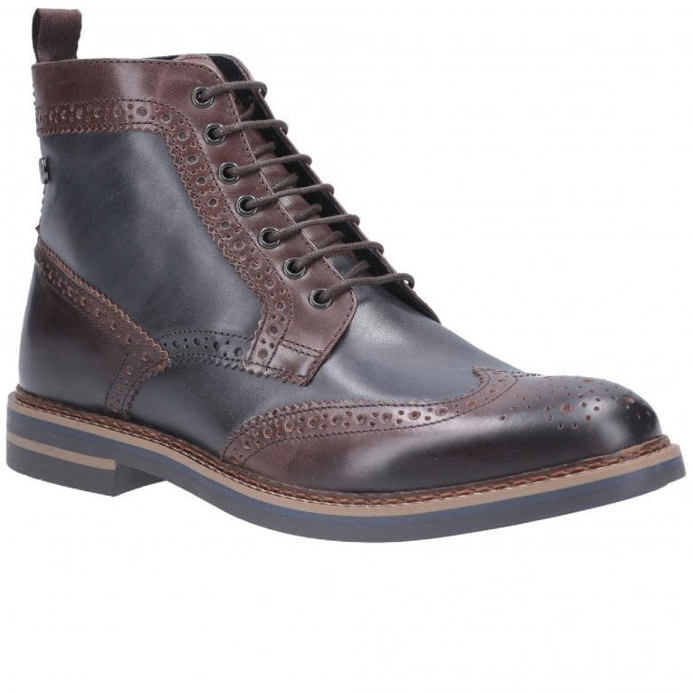 Base London Banner Burnished Lace Up Brogue Boot