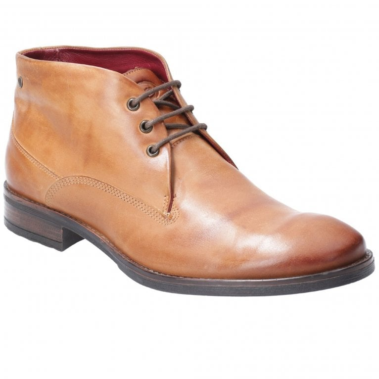 Base London Bramley Burnished Mens Lace Up Boot