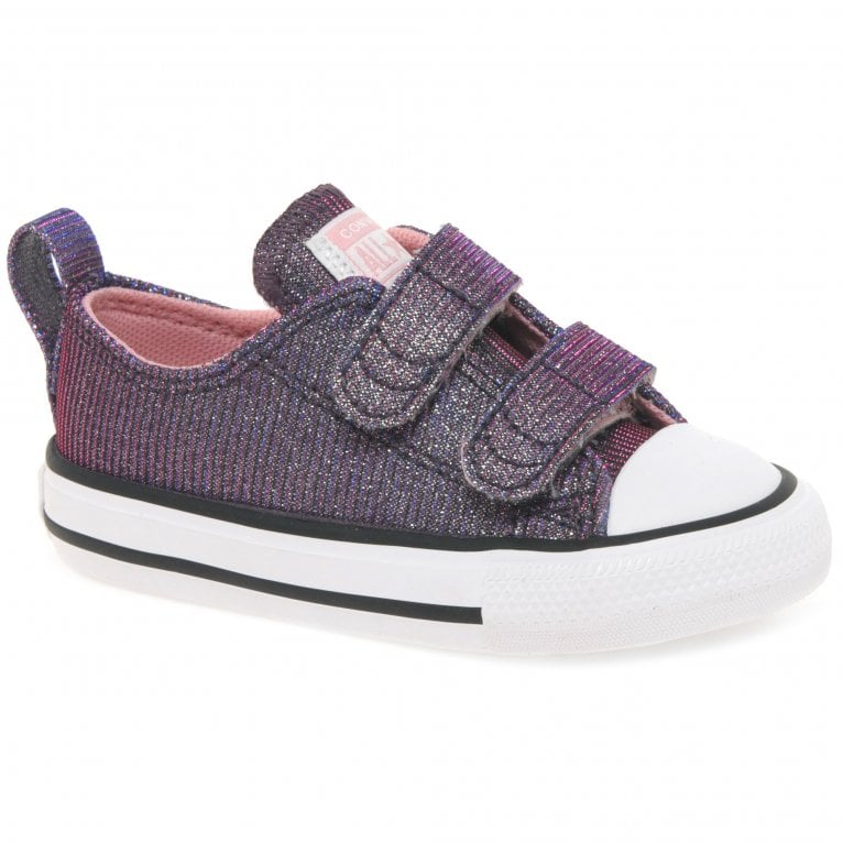 Converse All Star Oxford 2V Space Star Girls Infant Canvas Shoes