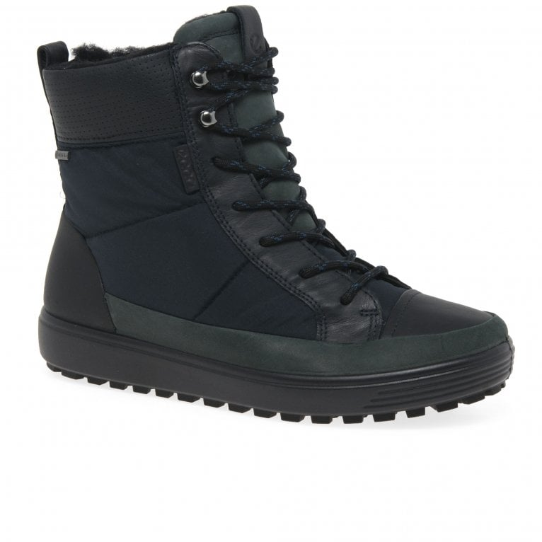 Ecco Soft 7 Lace Tred Womens Boots