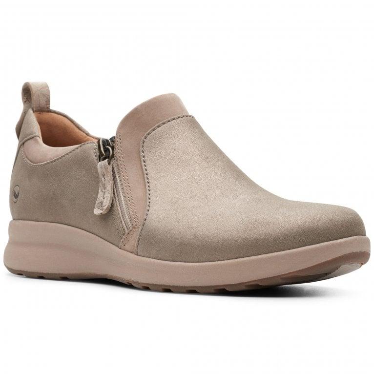 Clarks Un Adorn Zip Womens Casual Shoes