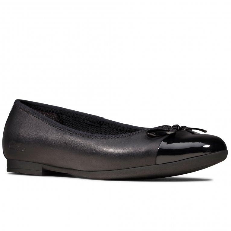 Clarks Scala Bloom K Girls School Shoes