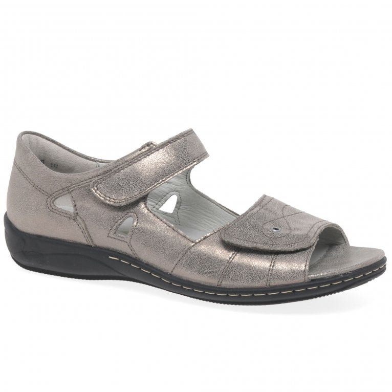 Waldlaufer Kansas Womens Wide Fit Leather Sandals