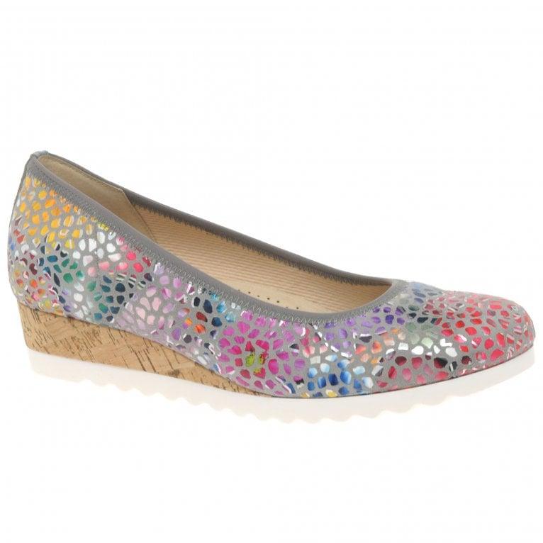Gabor Epworth Womens Low Wedge Heeled Shoes