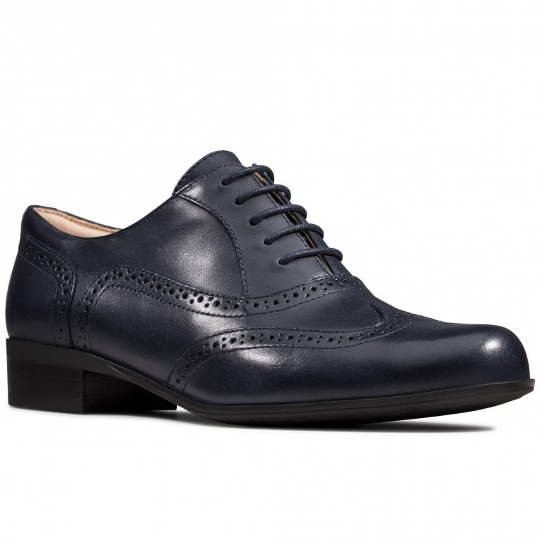 Clarks Hamble Oak Womens Wide Leather Lace Up Brogues