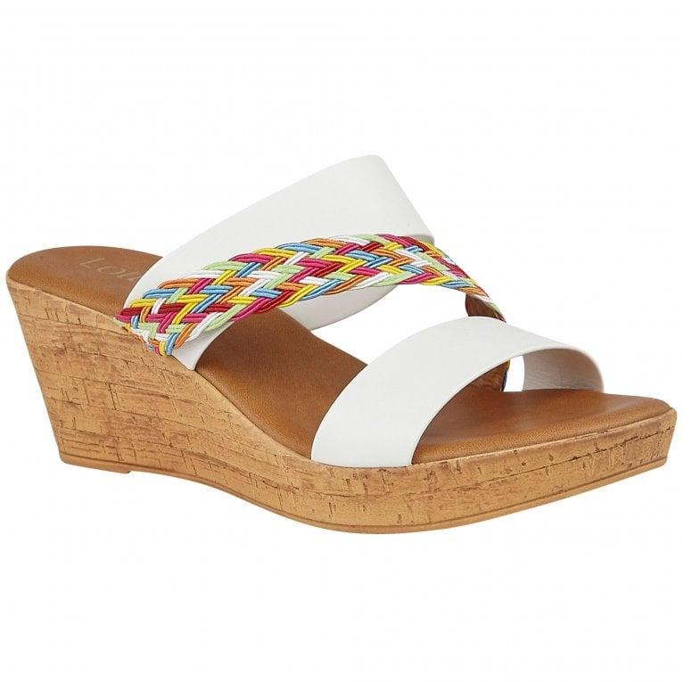 Lotus Jezebel Womens Slip On Wedge Shoes
