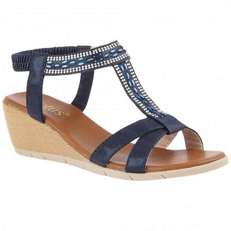 Lotus Bindi Womens Slip On Wedge Shoes