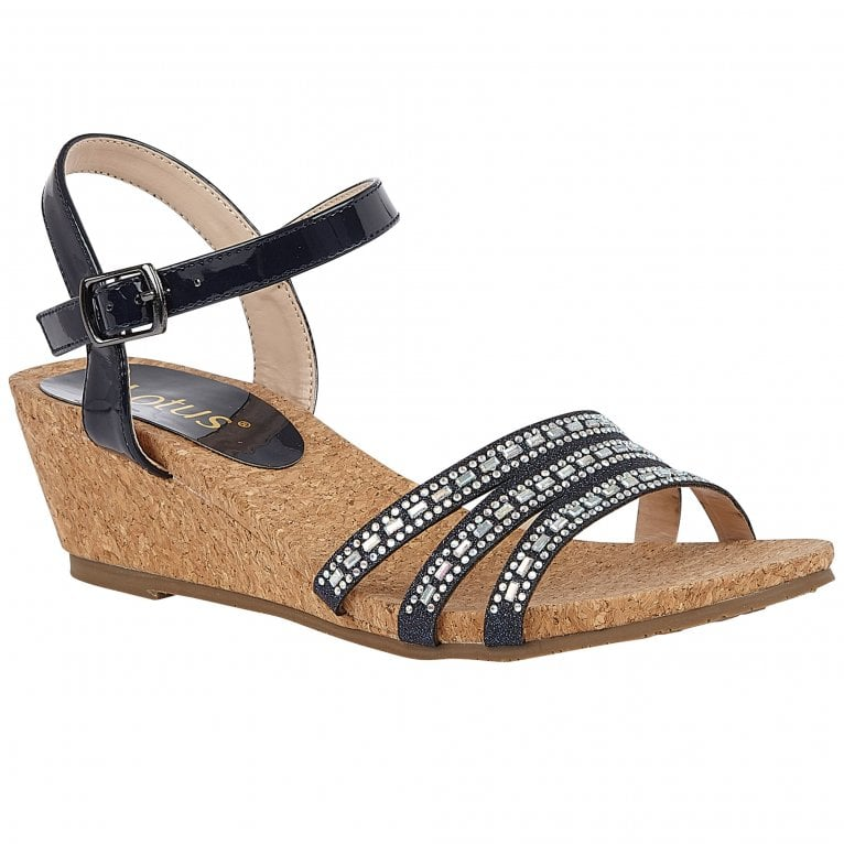 Lotus Mandy Womens Strappy Wedge Shoes