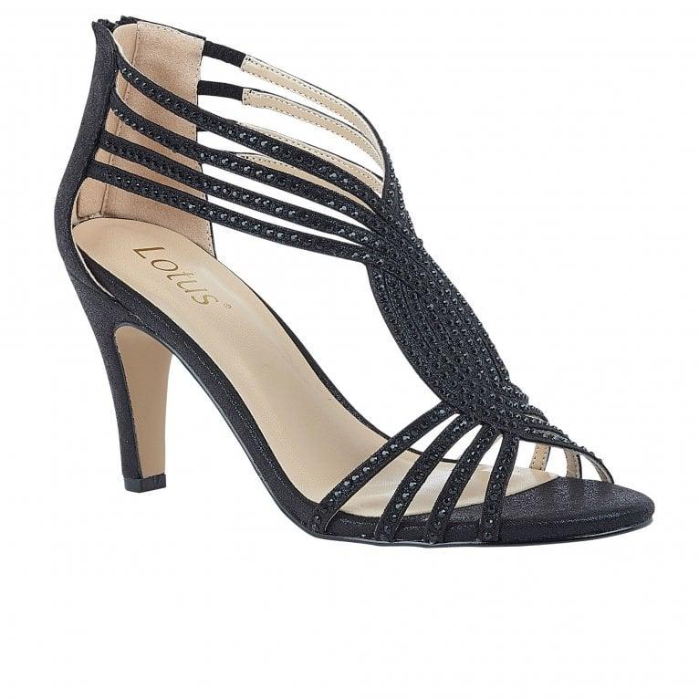 Lotus Nicole Womens Slip On Heeled Sandals