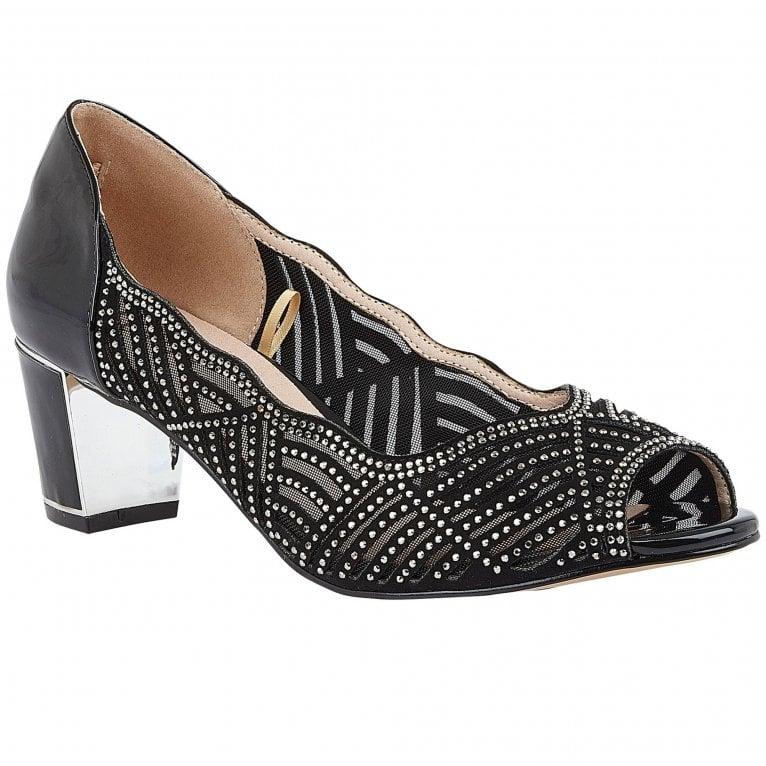Lotus Immy Womens Peep Toe Court Shoes