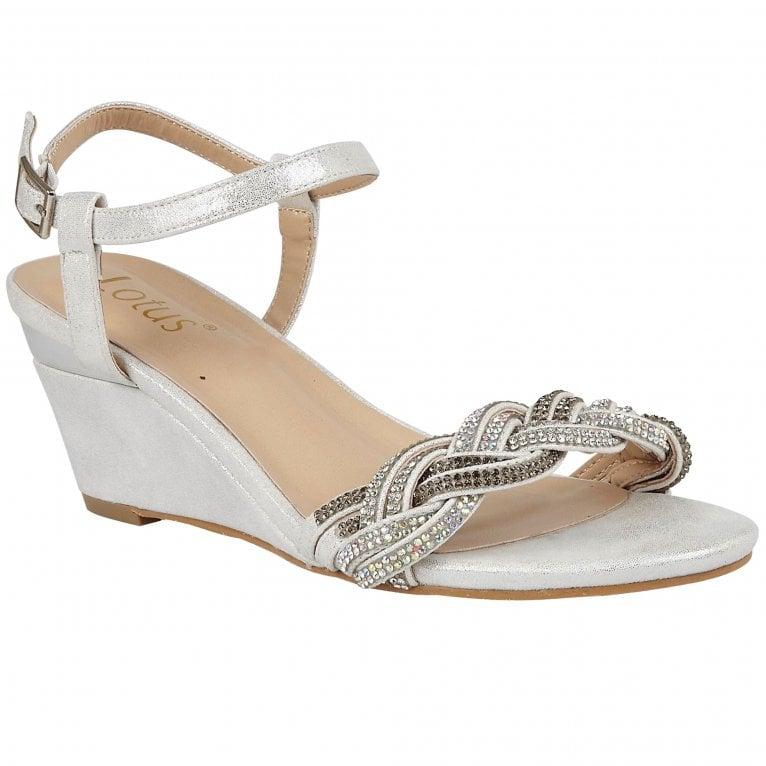 Lotus Josephine Strappy Wedge Sandals