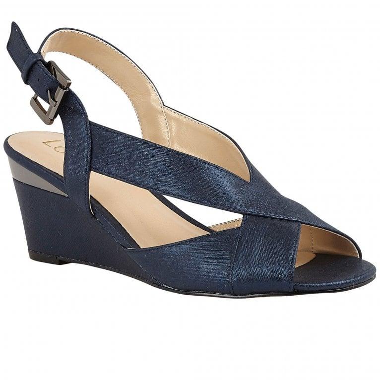 Lotus Dominica Womens Slingback Peep Toe Wedge Shoes