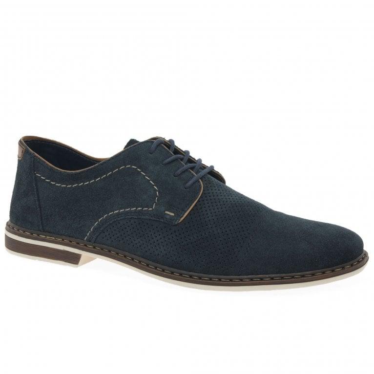 Rieker Permit Mens Suede Lace Up Shoes