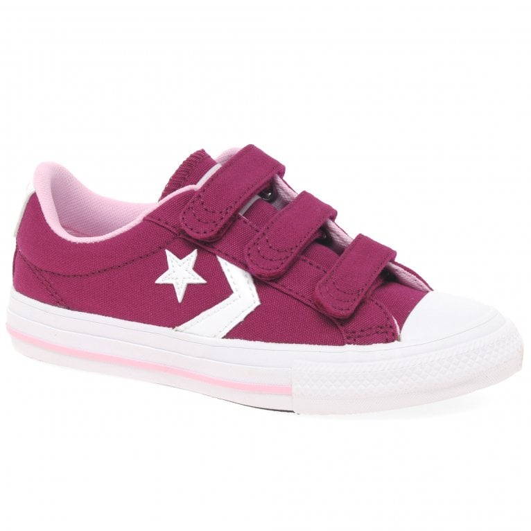 Converse Star Player 3V Girls Youth Canvas Shoes