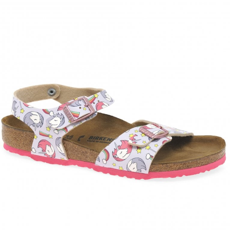 Birkenstock Rio Plain Unicorn Girls Sandals