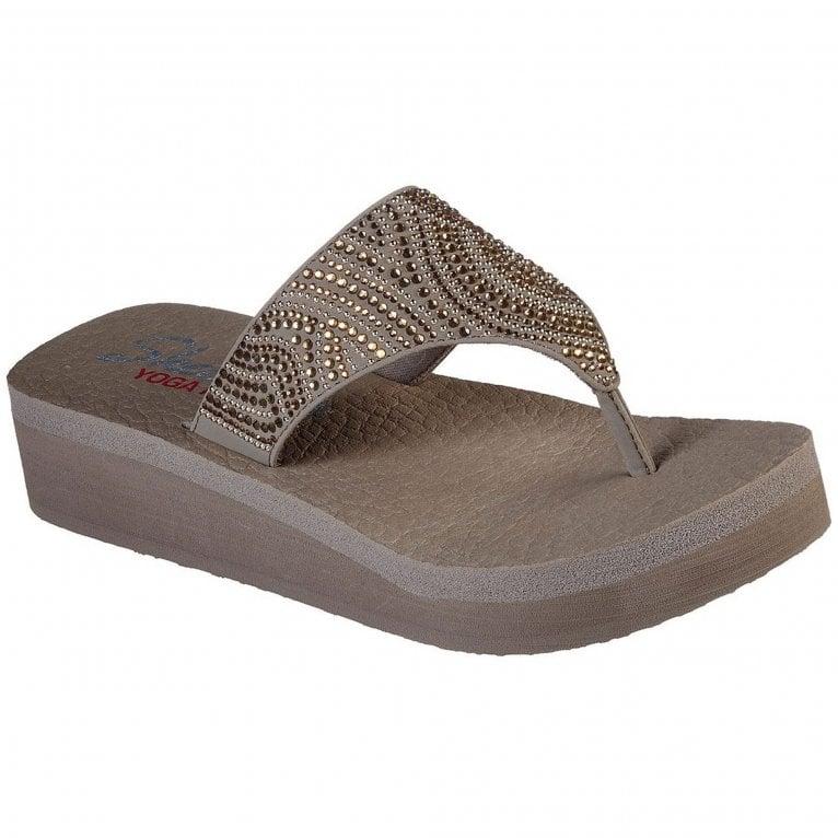 Skechers Vinyasa Stone Candy Womens Toe Post Sandals