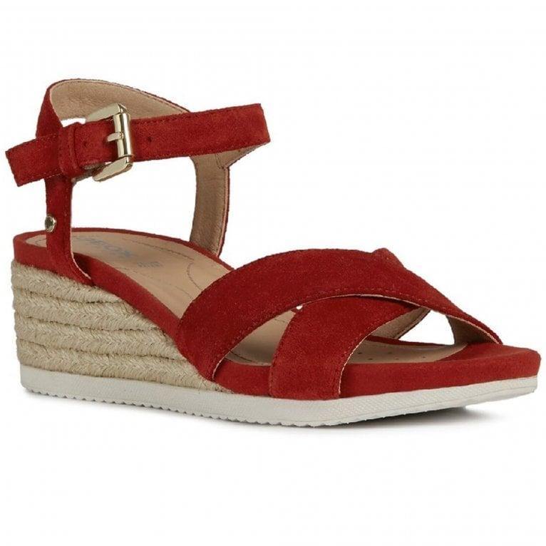 Geox D Ischia Corda C Womens Wedge Sandals