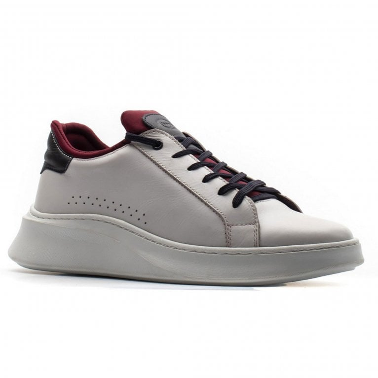 Base London Crescent Waxy Mens Leather Trainers