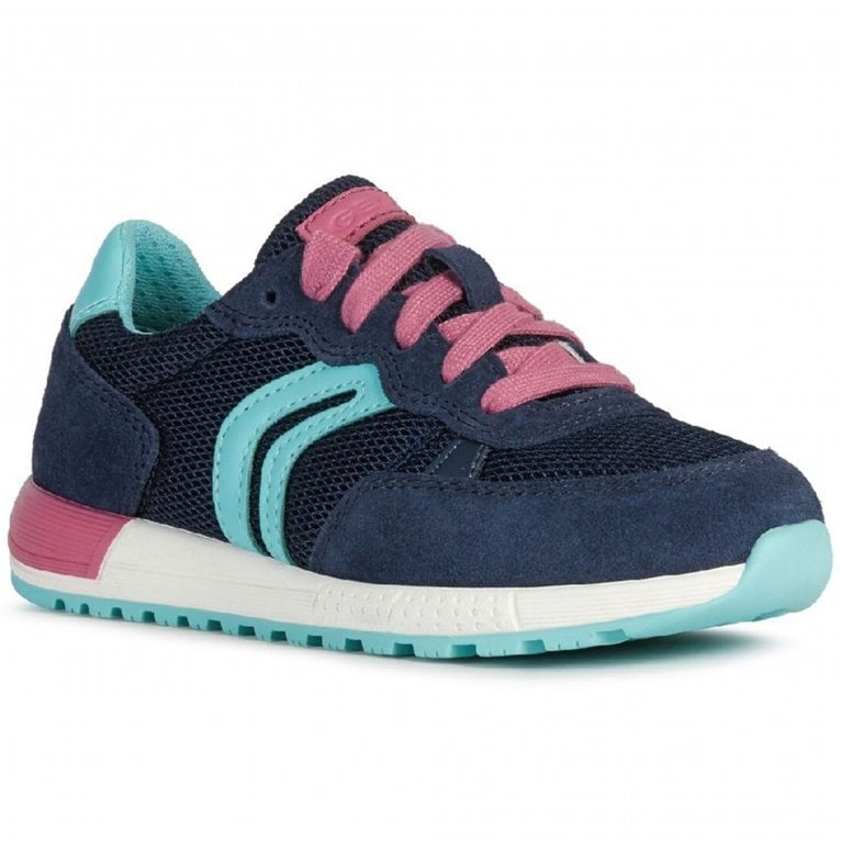 Geox Alben Junior Girls Lace Up Trainers