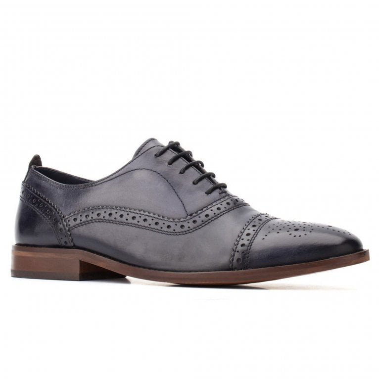 Base London Cast Washed Mens Brogues
