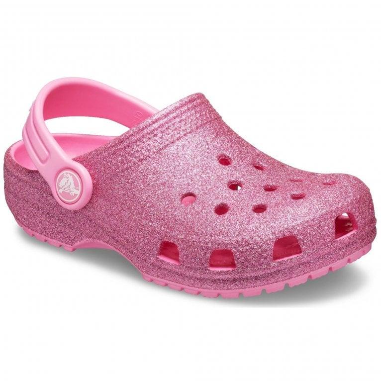 Crocs Classic Glitter Clog Girls Sandals