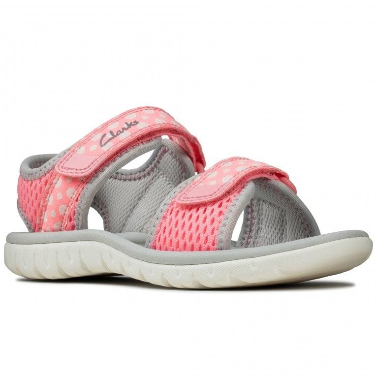 Clarks Surfing Tide Girls First Sandals