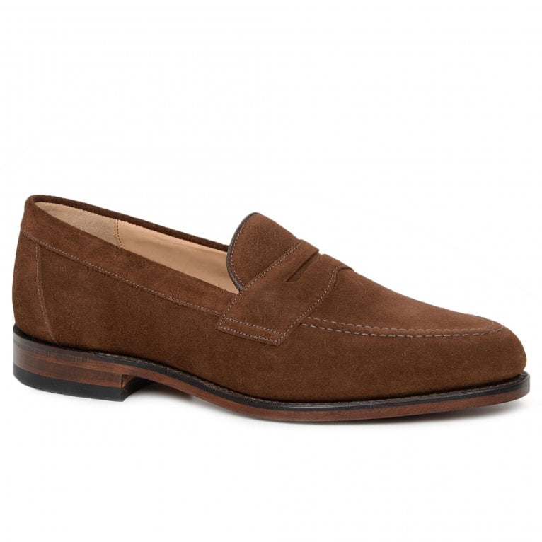 Loake Imperial Mens Suede Penny Loafers
