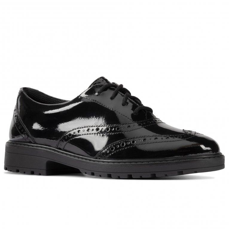 Clarks Loxham Brogue Y Girls Senior School Shoes