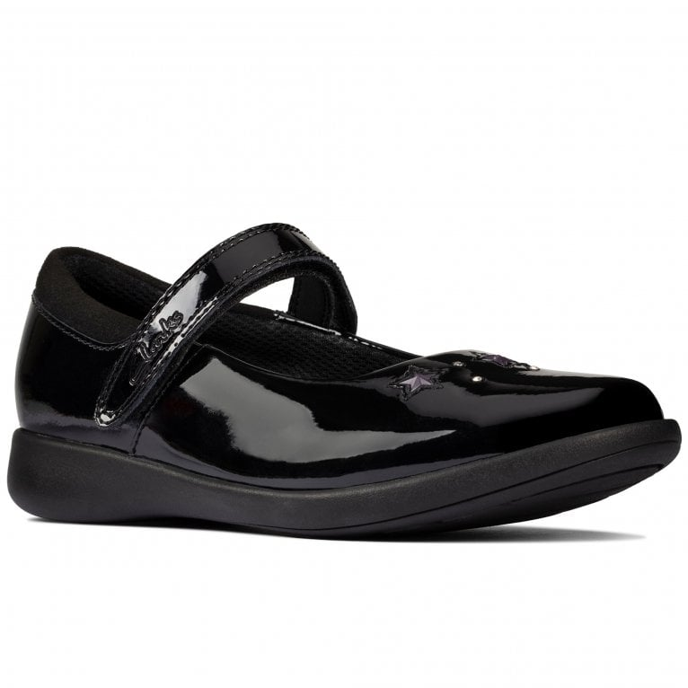 Clarks Etch Bright K Girls School Shoes