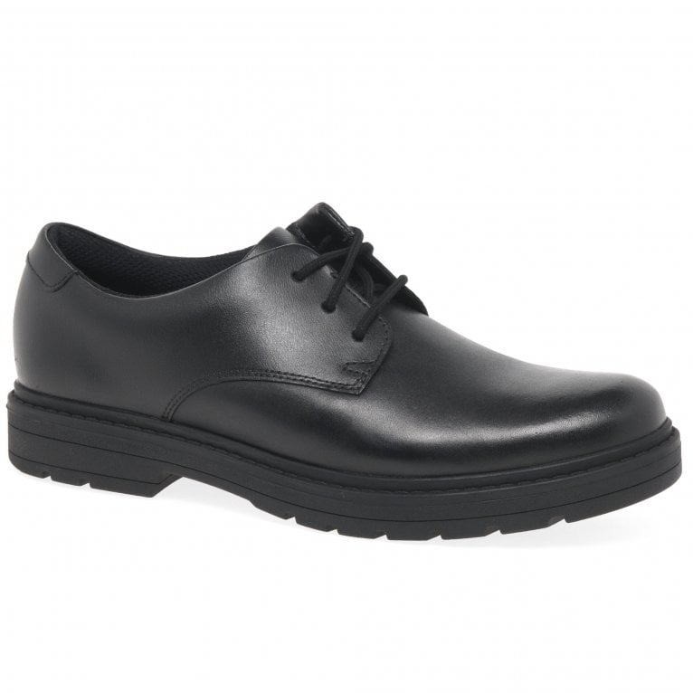 Clarks Loxham Derby Y Senior Kids School Shoes