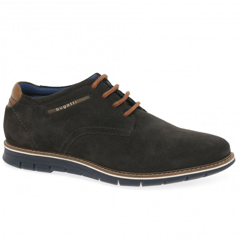 Bugatti Furth Mens Suede Lace Up Shoes