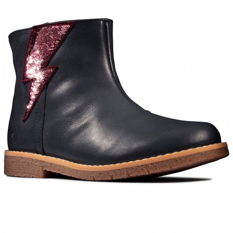 Clarks Comet Stripe K Girls Boots
