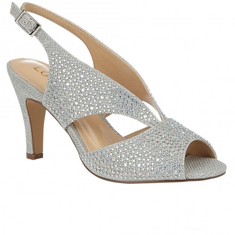 Lotus Dazzle Womens Slingback Peep Toe Court Shoes