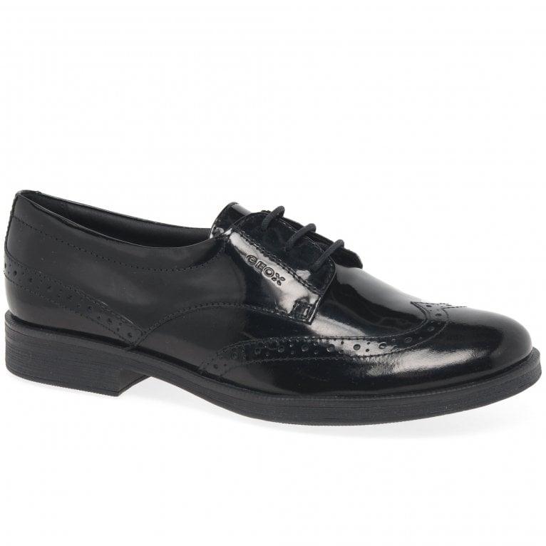 Geox Agata Lace Girls Senior School Shoes
